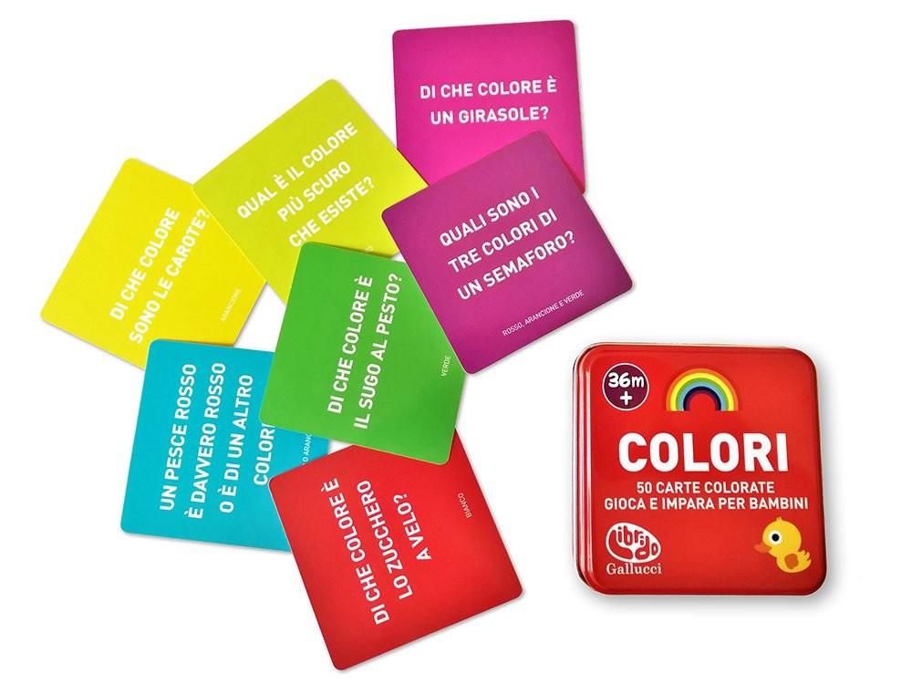 Colori 50 Carte Colorate Gioca E Impara Per Bambini Prima
